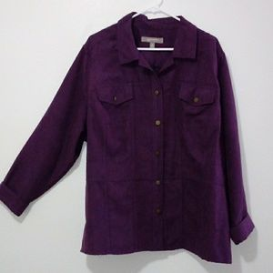 Croft&barrow womens botton up shirt purple
